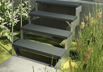 Sehr Außentreppen für Haus und Garten CD02