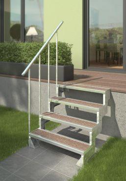 Außentreppe DOLLE Gardentop feuerverzinkt Einlegestufe 80 cm
