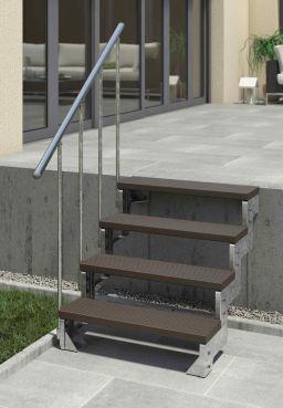 Außentreppe DOLLE Gardentop TRIMAX Dunkelbraun Standardgeländer 80 cm