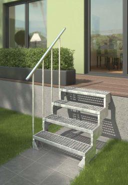 Außentreppe DOLLE Gardentop feuerverzinkt Gitterroststufe 80 cm