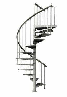 Dolle Außentreppe Gardenspin, Spindeltreppe für den Außenbereich mit feuerverzinkten Stufen