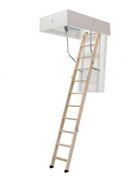 Dachbodentreppe DOLLE clickFIX® mit höchster Wärmedämmung, Ansicht mit weiß grundiertem Lukenkasten