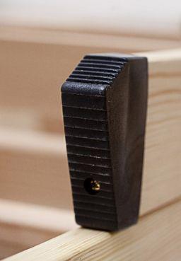 Fußkappen für Bodentreppe, schwarz