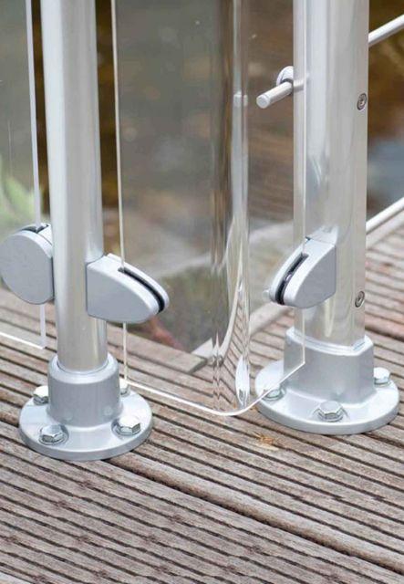 Geländersystem DOLLE Prova Acrylglas Ecken