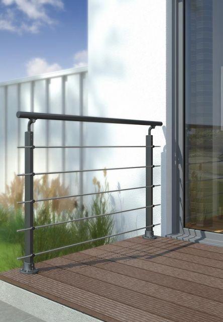 Geländerset PS 150, PS 151 in Anthrazit aus Aluminium