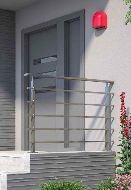 Geländerset PS 300, PS 301 rechteckig aus Aluminium